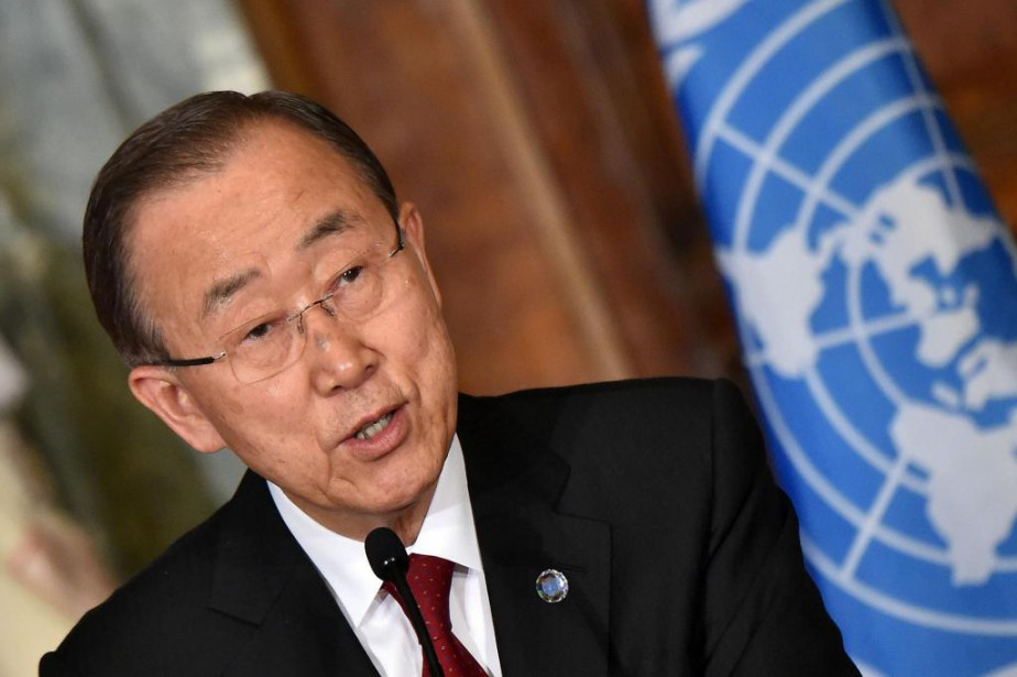 Ban Ki-moon, secrétaire général des Nations unies, achève... (PhotoALBERTO PIZZOLI, archives Agence France-Presse)