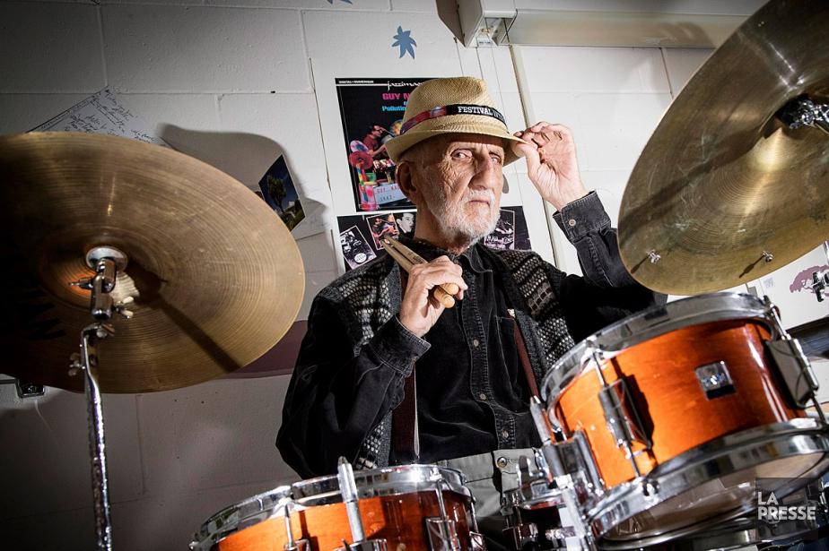 Guy Nadon, légendaire batteur québécois, photographié en juin... (PHOTO ALAIN ROBERGE, LA PRESSE)