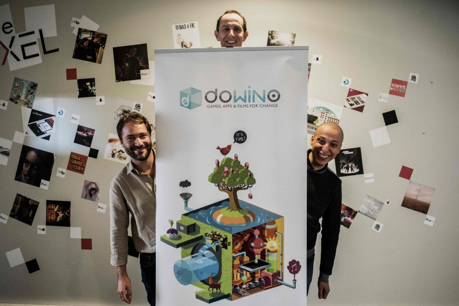Les cofondateurs de Dowino: Jérôme Cattenot (gauche), Nordin... (AFP)