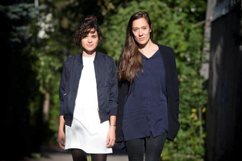Édith Morin et Sarah Lacombe, éditrices de la... (Photo François Roy, La Presse)