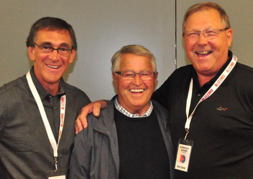 Go, Nordiques, Go! Pierre Aubry, Michel Bergeron et André « Moose » Dupont. (Gilles Joubert)