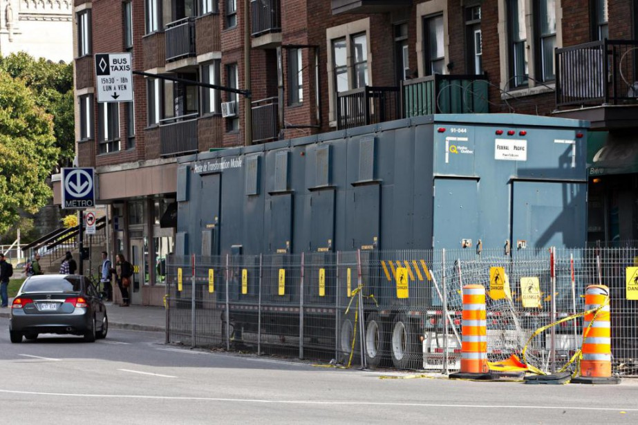 Depuis un an, la présence d'une remorque d'Hydro-Québec... (Photo Patrick Sanfaçon, La Presse)