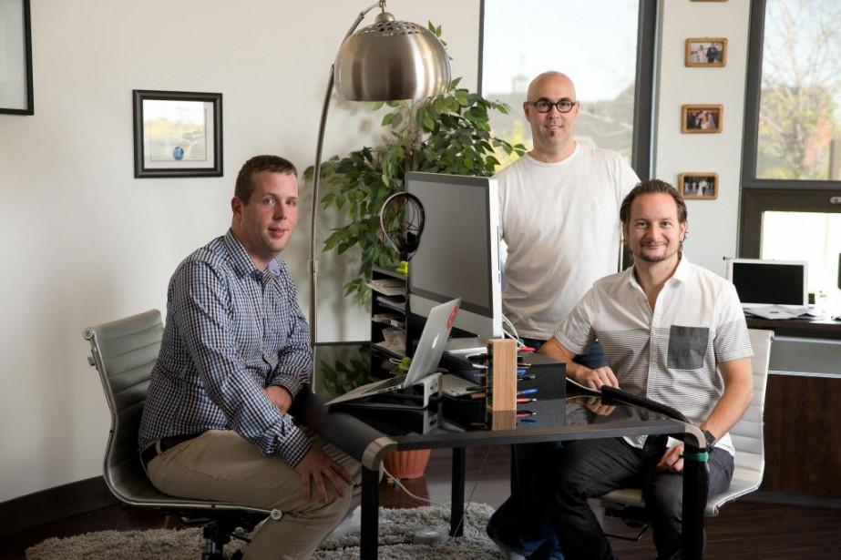 Simon Boulet (à gauche) est le PDG de... (Photo Martin Chamberland, La Presse)