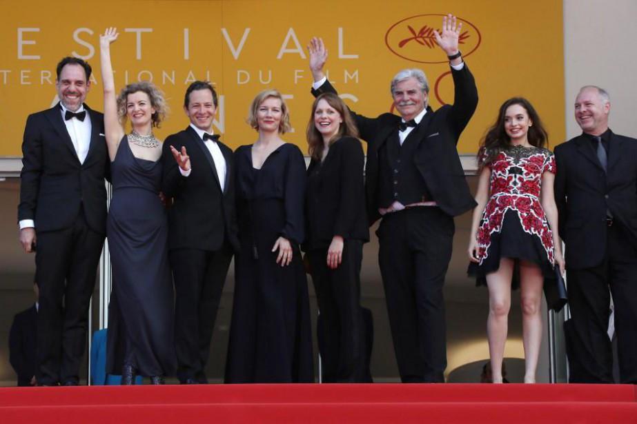 La distribution du filmToni Erdmann lors du dernier... (PhotoValery HACHE, archives Agence France-Presse)