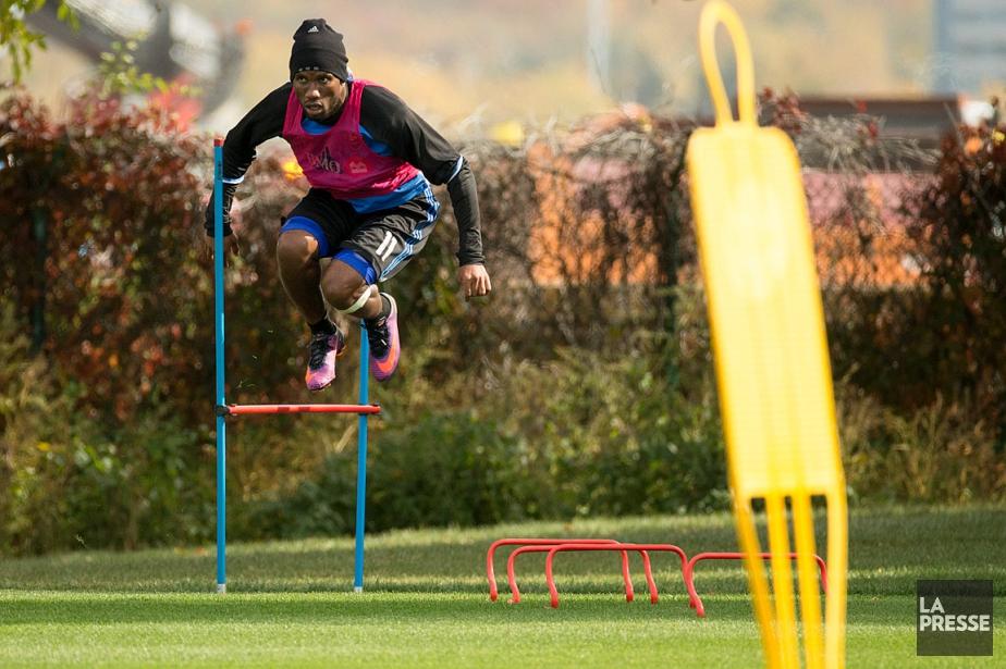Didier Drogba à l'entraînement le 12octobre.... (PHOTO OLIVIER JEAN, LA PRESSE)