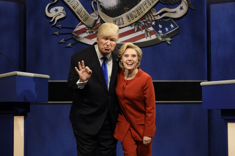 Alec Baldwin et Kate McKinnon incarnent les deux... (PHOTO AP)