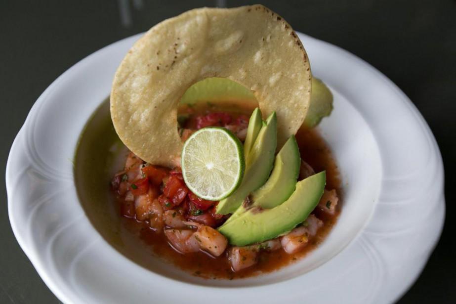 Un ceviche mexicain, au menu du SeaSalt&Ceviche Bar.... (PHOTO FRANÇOIS ROY, LA PRESSE)