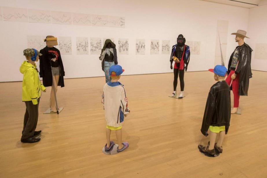 L'assemblage de sept personnages de l'installation Schauspieler III... (Photo Ivanoh Demers, La Presse)