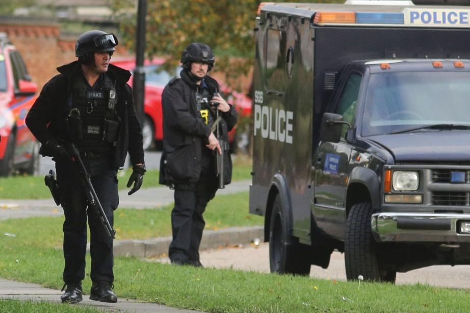 La sécurité a été renforcée samedi dans le... (PHOTO DANIEL LEAL-OLIVAS, AFP)