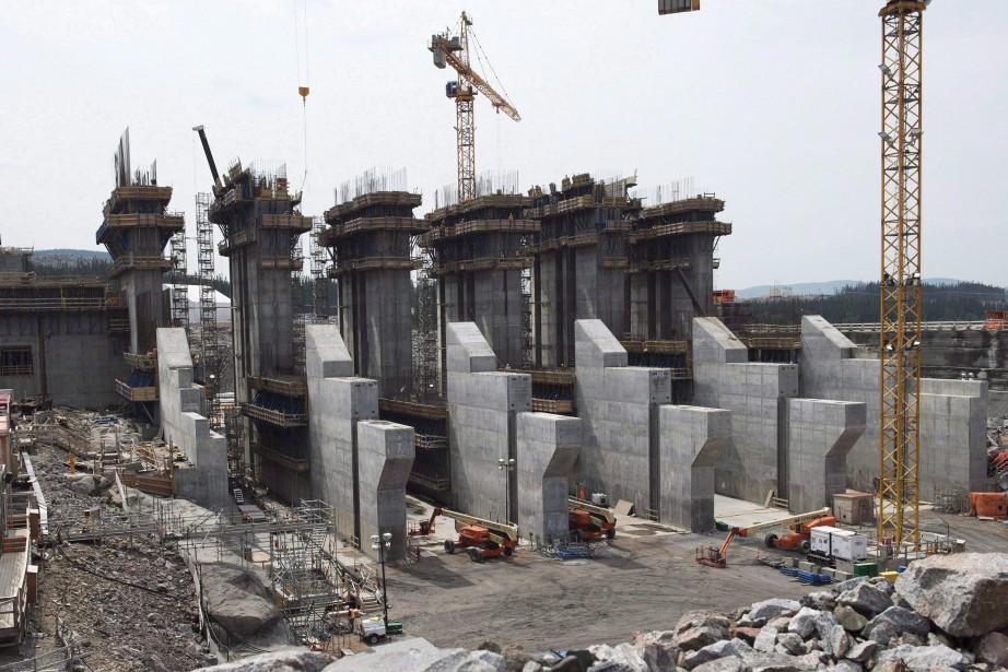 Le chantier deMuskrat Falls.... (Photo La Presse Canadienne)