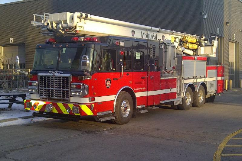 En 2011, le Service de sécurité incendie de... (PHOTO FOURNIE PAR LE SERVICE DE SÉCURITÉ INCENDIE DE MONTRÉAL)