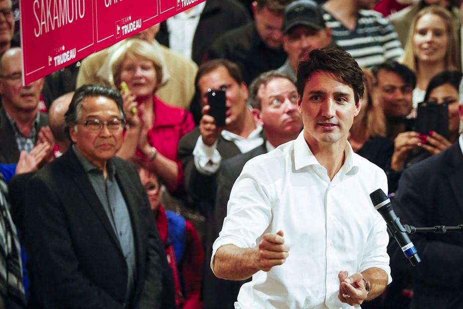 Le premier ministre Justin Trudeau était allé à... (THE CANADIAN PRESS)