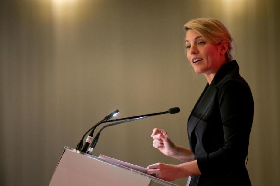 La ministre du Patrimoine canadien Mélanie Joly a... (Photo David Boily, La Presse)