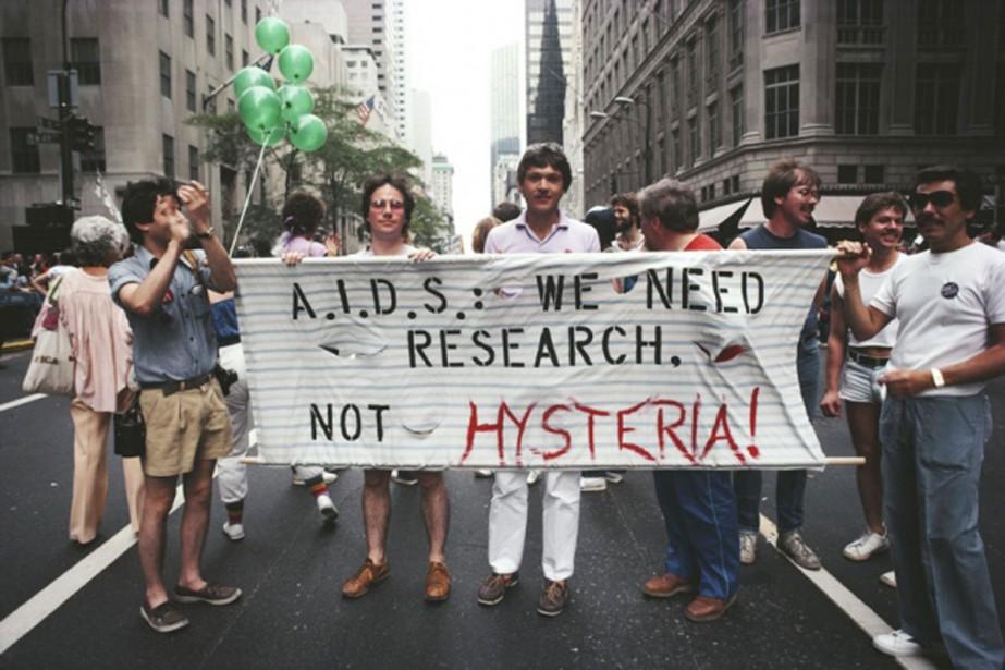 Des activistes participant au défilé de la fierté... (photo Barbara Alper, Getty Images/nature)