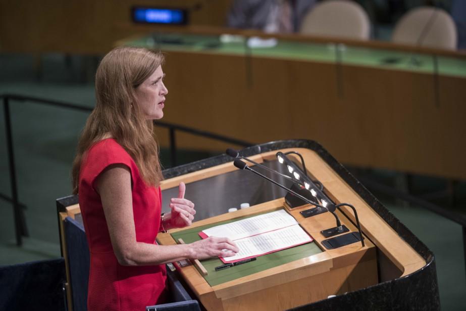 L'ambassadrice américaine Samantha Power a fait valoir la... (photo Amanda VOISARD, AFP)