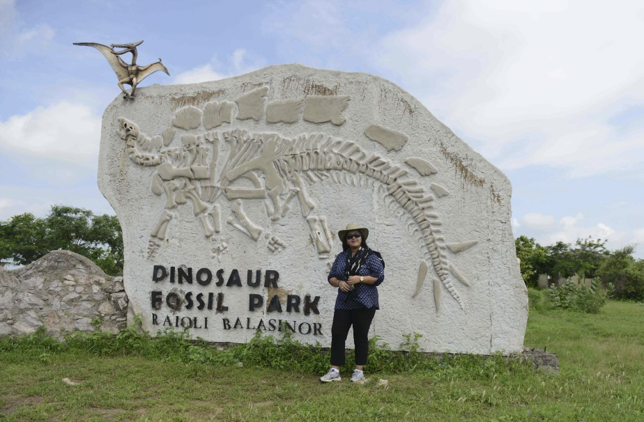 Aalia Sultana Babi est issue de la dynastie qui régnait autrefois sur le district de Balasinor. La région est sortie de l'anonymat au début des années 80, lorsque des chercheurs ont découvert que la terre recèle des fossiles de dinosaures enfouis depuis des millions d'années. (PHOTO AFP, SAM PANTHAKY)