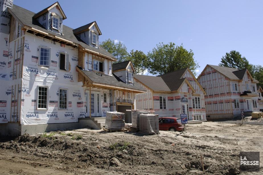 Au Québec, la croissance de la construction résidentielle... (Archives)