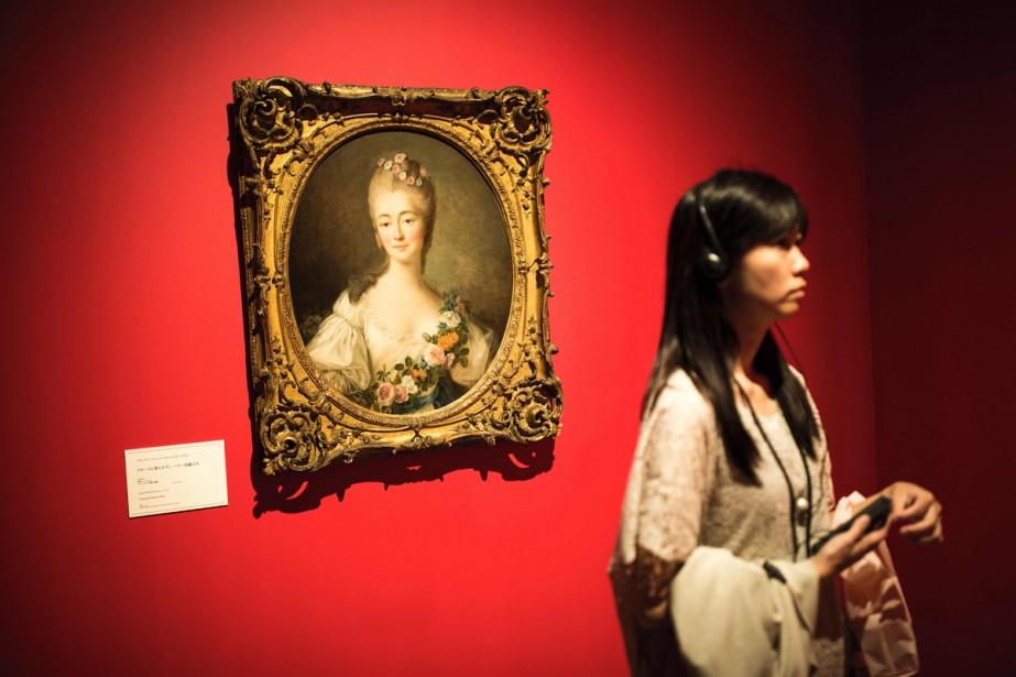 La toile Jeane Becu, comtesse du Barry en... (PHOTO AFP)