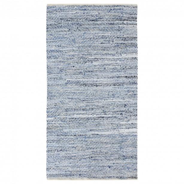 Un tapis de coton et denim servira bien un espace plus industriel, masculin ou inspiré du bord de mer. (Photo fournie par Bouclair)