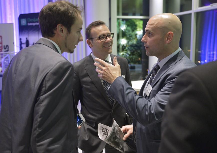 5 à 7 organisé par Le Soleil dans le cadre du dévoilement du cahier Chaudière-Appalaches, Fierté d'Entreprendre, qui présente des entrepreneurs d'ici. (Le Soleil, Yan Doublet)
