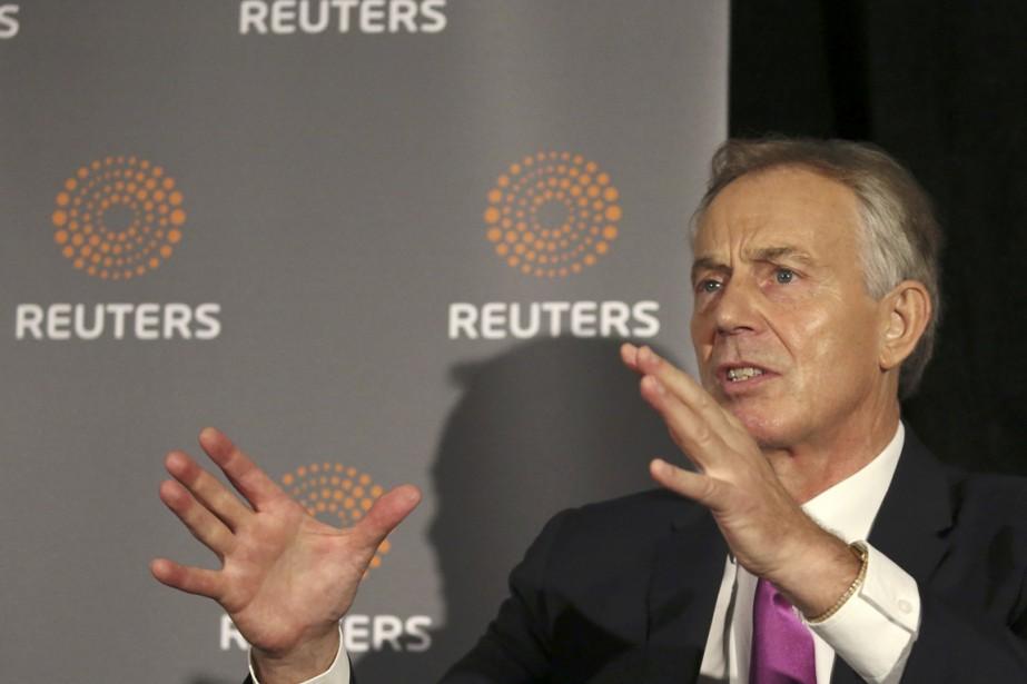 Dans le journalThe New European, Tony Blair, premier... (photo Brian Webb, archives REUTERS)