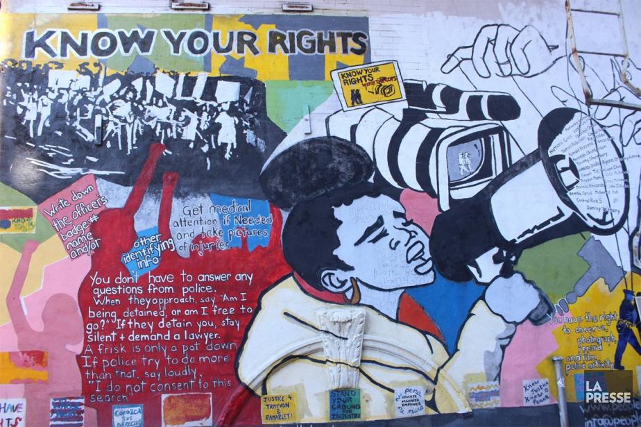 L'une des murales réalisées par des organisations communautaires... (PHOTO SYLVIE ST-JACQUES, COLLABORATION SPÉCIALE LA PRESSE)