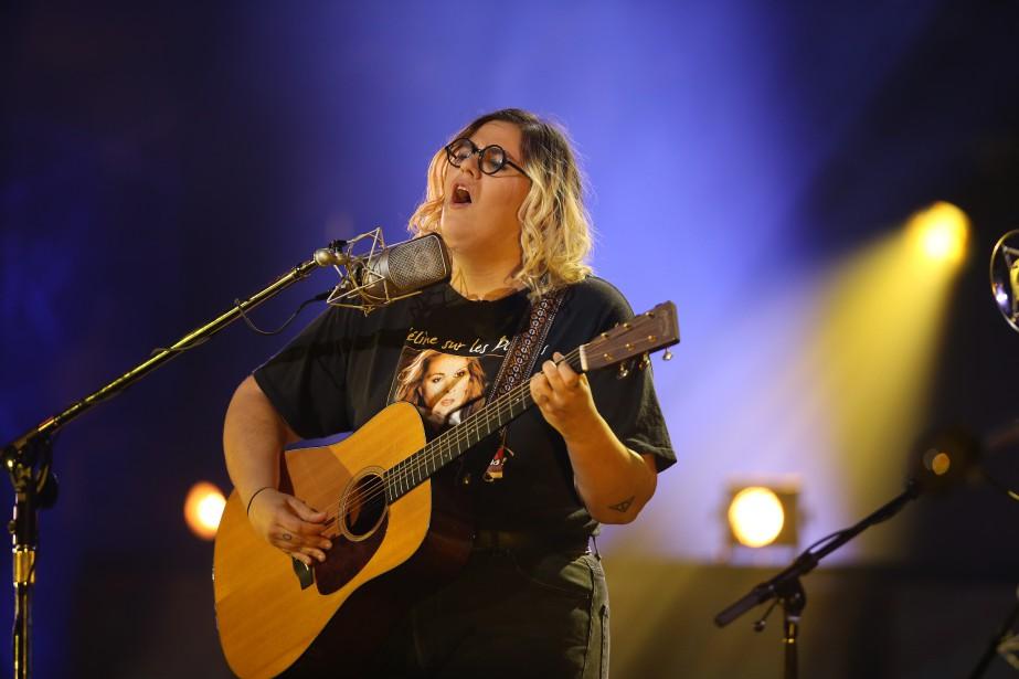 Safia Nolin en prestation musicale (La Presse, Martin Chamberland)