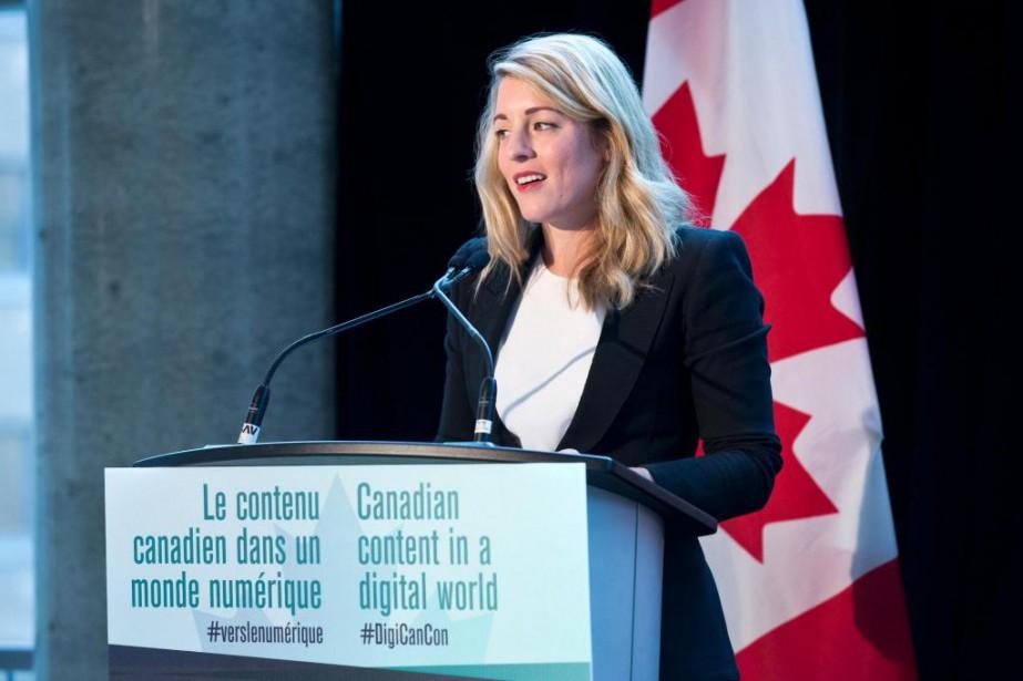 La ministre du Patrimoine canadien, Mélanie Joly, a... (PHOTO PATRICK SANFAçON, LA PRESSE)