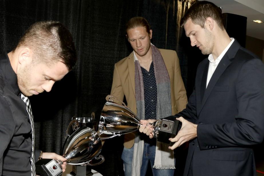 Les joueurs Carl Haworth, Lance Rozeboom et Kyle Venter (Patrick Woodbury, LeDroit)