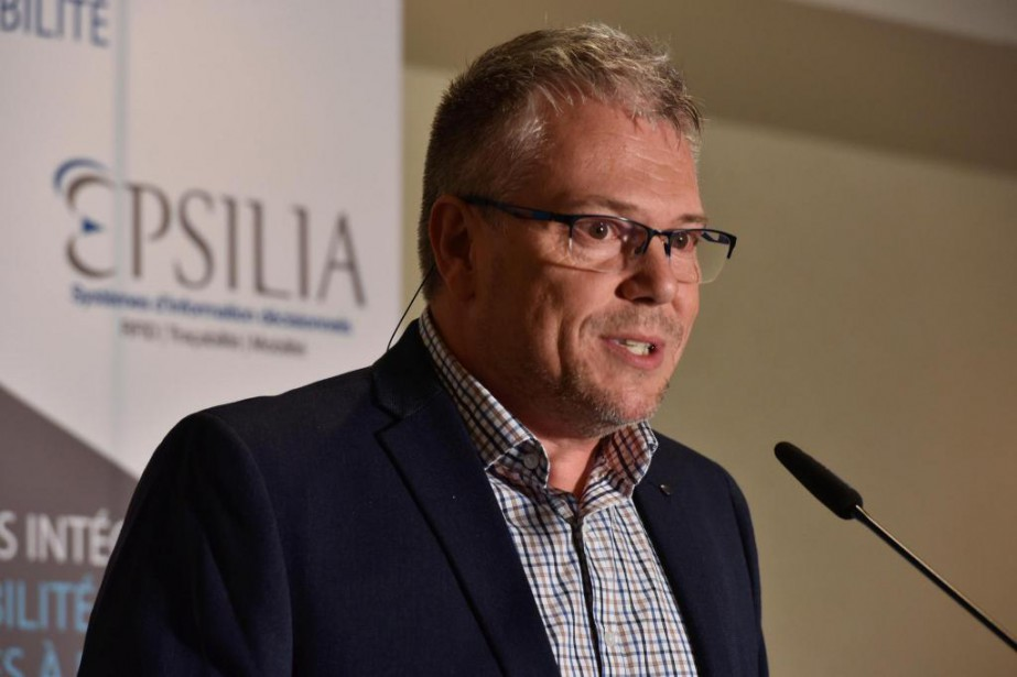Alain Lemieux,PDG et principal actionnaire d'Epsilia, était tout... (Photo François Gervais, Le Nouvelliste)
