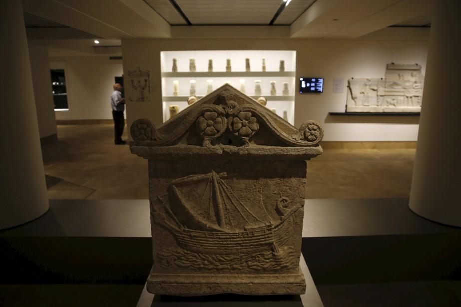 Sarcophage phénicien (VIe-IVe siècles av. J.-C.) découvert dans la région de Saida (AFP, Joseph Eid)