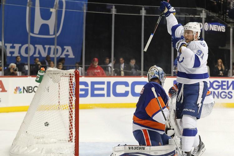 Nikita Kucherov a inscrit deux buts et amassé deux mentions d'aide,... (PHOTO AP)