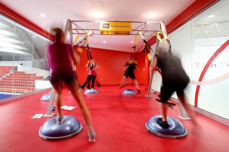 Le TRXest un équipement d'entraînement formé de courroies... (Photo Martin Chamberland, La Presse)