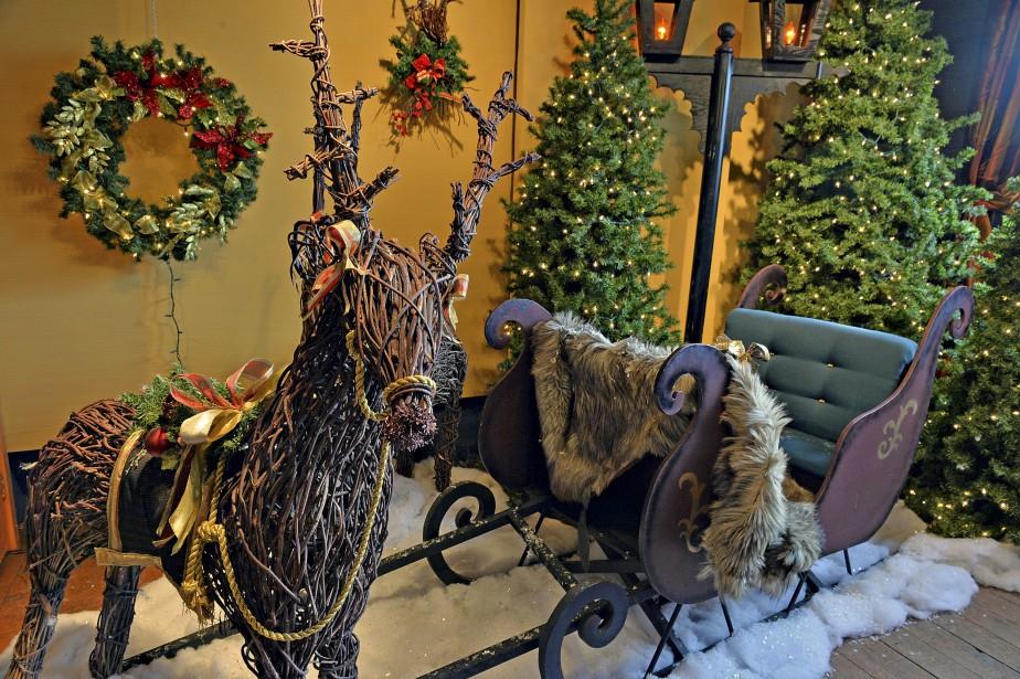 Cet aménagement faisait partie du décor de Noël du Hilton, à Montréal. Il est à vendre, en partie ou en totalité. (Le Soleil, Patrice Laroche)