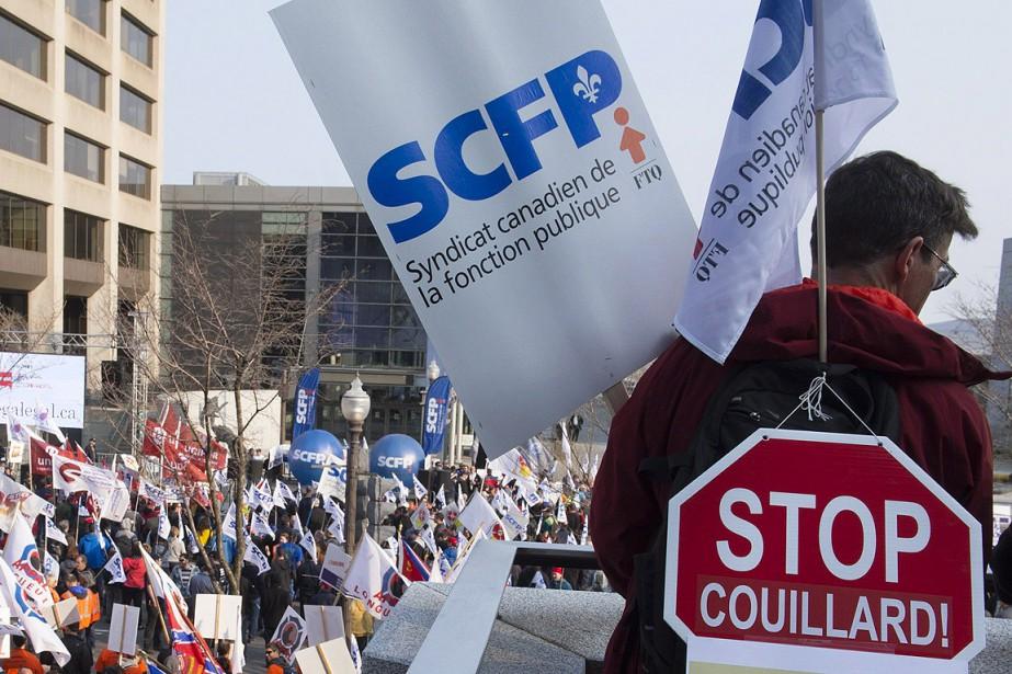 Les dirigeantsdu SCFP entendent donner une raclée au... (Jacques Boissinot, archives PC)