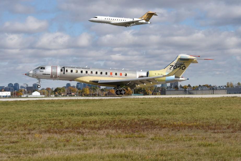 Le Global 7000 adécollé du centre de production... (Photo Bombardier / REUTERS)