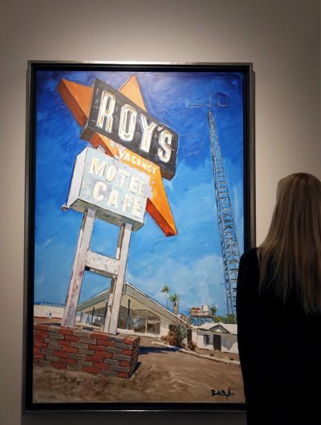 La toile <em>Abandoned Motel, Eureka</em> (AP, Kirsty Wigglesworth)