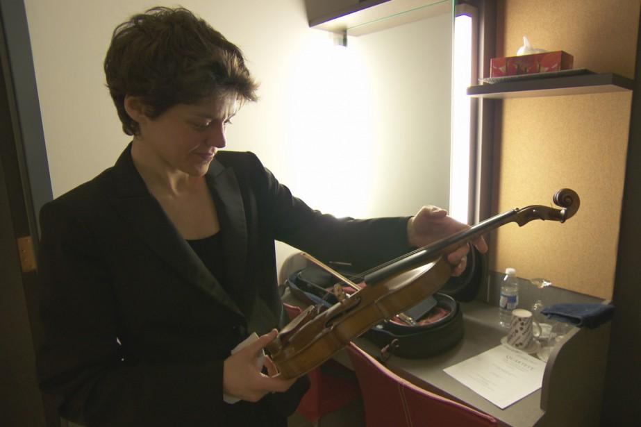 La violoniste Laura Andriani (Photo courtoisie, Télé-Québec)