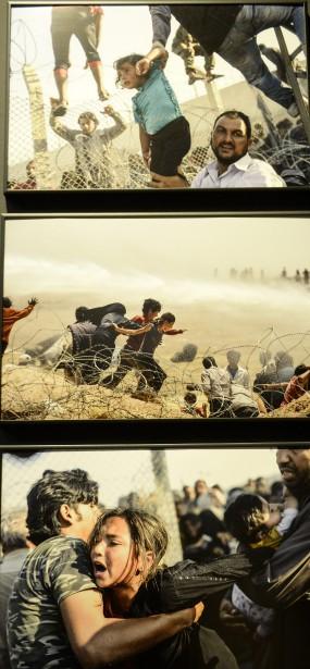 Cette photo touchante met en scène des réfugiés dans l'exposition World Press Photo. C'est notamment le cas des clichés de Bulent Kilic. (Reproduction Le Progrès-Dimanche, Jeannot Lévesque)