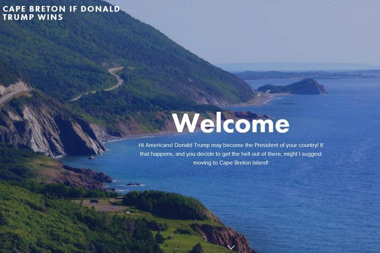 Le site web «Cape Breton if Donald Trump... (ARCHIVES PC)
