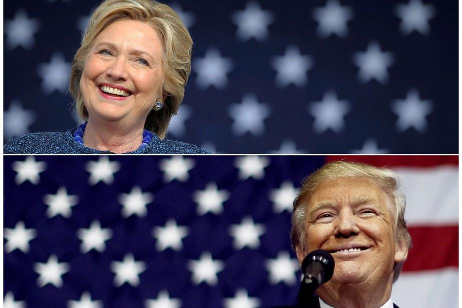Hillary Clinton et Donald Trump... (Brian Snyder et Jonathan Ernst, archives Reuters)