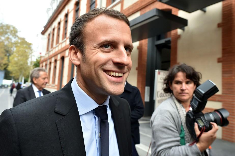 Emmanuel Macron, l'ancien protégé du président socialiste François... (AFP)