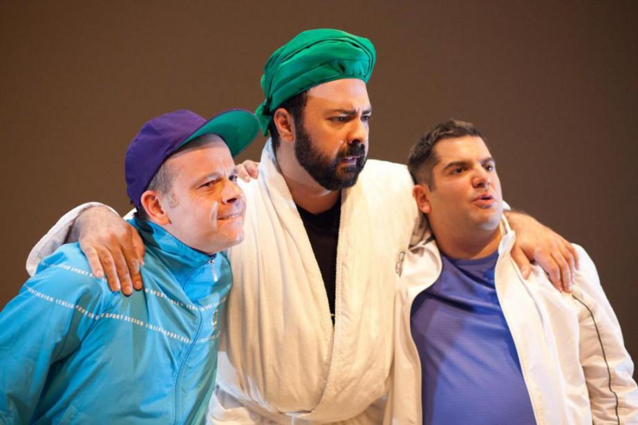 Geoffrey Gaquère, Mani Soleymanlou et Olivier Kemeid... (PhotoDavid Ospina, fournie par la production)