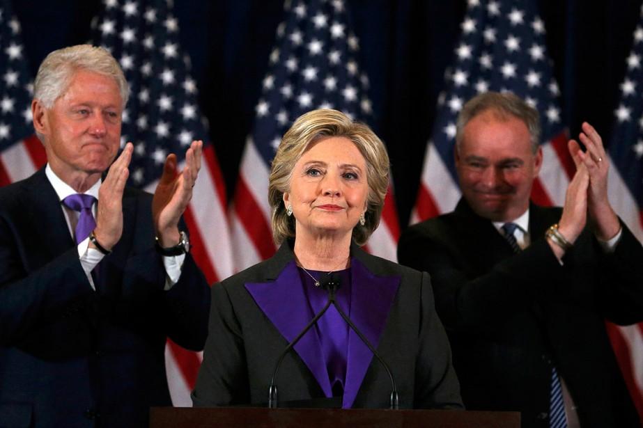 Hillary Clinton a donné son discours de concession... (PHOTO Carlos Barria, REUTERS)