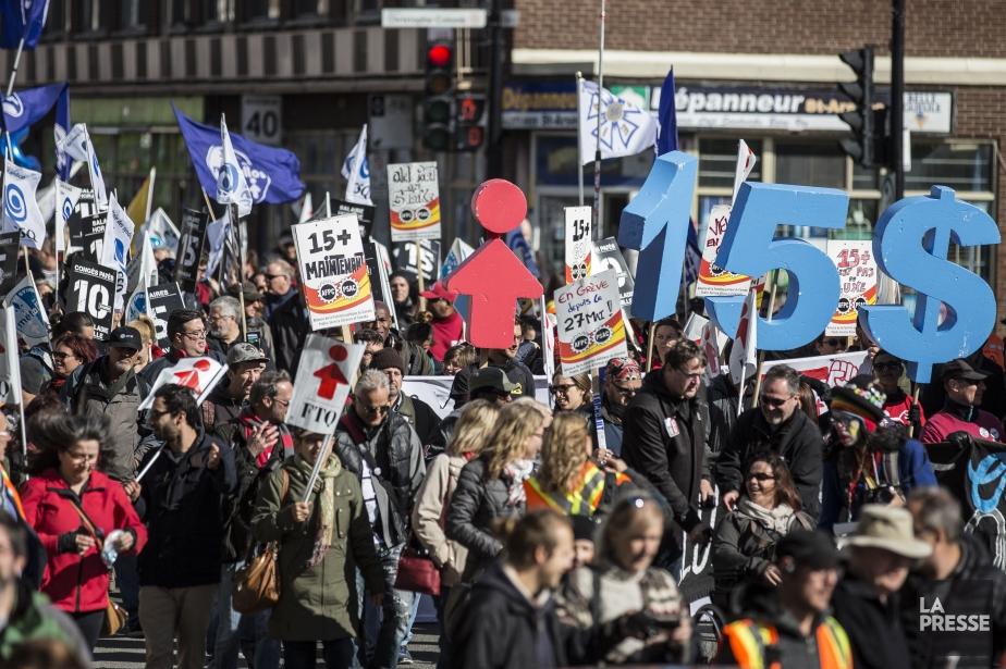 Sur la photo, une manifestation en faveur de... (Photo Archives La Presse)
