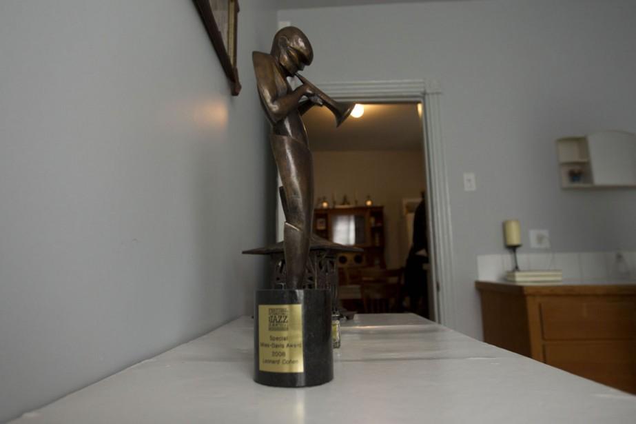 Le prix Miles-Davis du Festival de jazz de Montréal, photographié chez Leonard Cohen, en 2014. (PHOTO OLIVIER JEAN, archives LA PRESSE)
