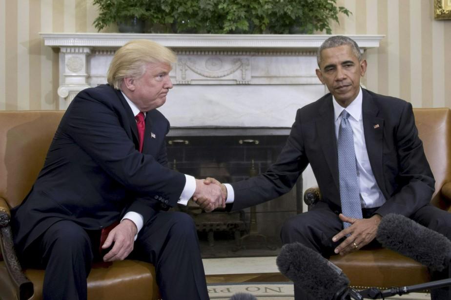 Lors de sa première rencontre avec Donald Trump... (Photo archives Agence France-Presse)