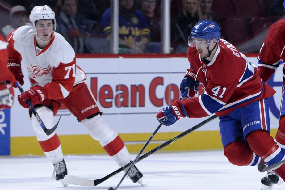 Dylan Larkin et Paul Byron... (Photo Eric Bolte, archives USA Today Sports)