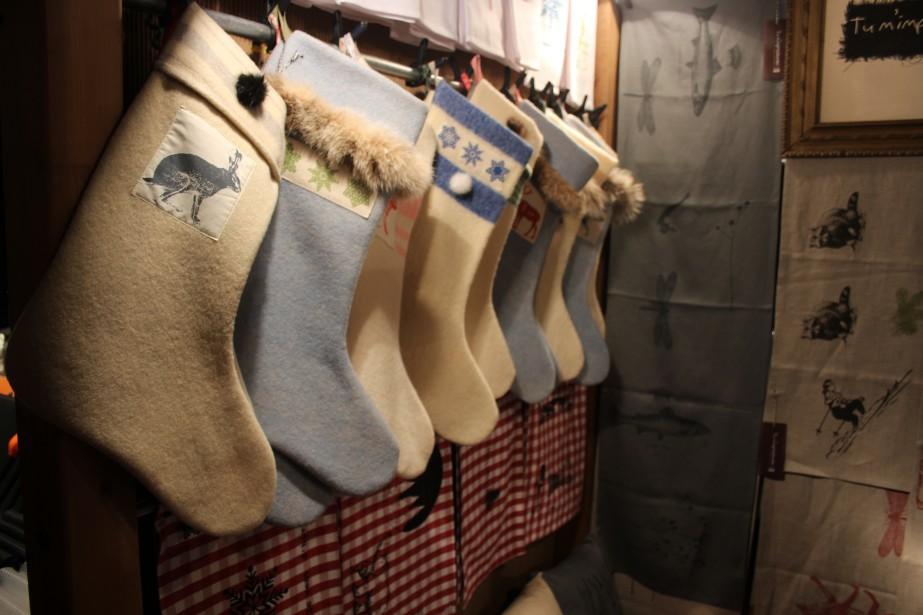 Coup de coeur pour les bas de Noël fait de vieilles couvertures de laine de <em>Tu m'impressionnes</em>. (Mélissa Bradette)