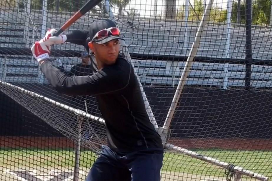 Lourdes Gurriel fils,23ans, a passé six ans en... (IMAGE TIRÉE D'UNE VIDÉO, MLB.COM)